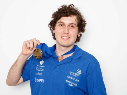 TAFE NSW Orange student Clinton Larkings will compete in WorldSkills